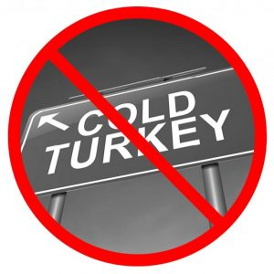red no sign over the words cold turkey represents the importance of detox programs