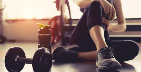 woman working out in recovery